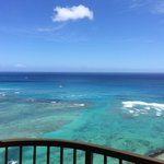 The ocean as seen from Rainbow Tower