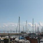 over de waddenzee vanaf jachthaven schiermonnikoog