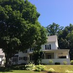 An expertly decorated and yet oh so comfortable home in rural New England. My iPhone photo doesn