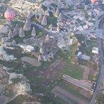 Kendi kameramdan bir çekim havada balondayken.