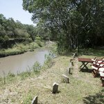 The camp is next to the river Olare Orok where hippos thrive.