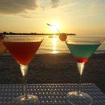Happy hour at sunset on Mahamaya beach