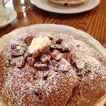 Pecan waffles (back) and pecan pancakes-full order (front)