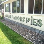 Stop for lunch but save room for pie!