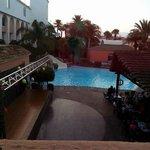 Vistas desde el pasillo del hotel