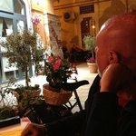 La Piazzetta da un tavolo del Ristorante La Bettola