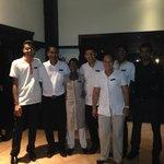 The wonderful staff of La Faya Restaurant