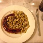 Pork sausage with white beans...