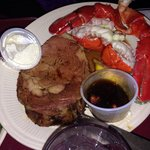 Lobster and prime rib