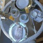 La vaisselle du petit-déjeuner raffinée