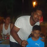 SL cricket team member Sanga at tartaruga