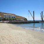 Moutsouna beach and quay