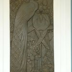 Peacock Plaque in the bar