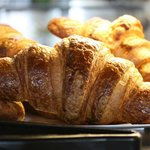 Fresh in house baked croissants