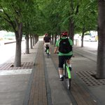 Most riding is done on bike paths