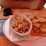 The ceviche for lunch is amazing!