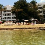 Ses Savines hotel taken from the beach area