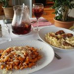 Pastas and sangria. Tasty you should try it.
