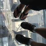 My wife and I standing on Skydeck