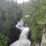 Devil's Kettle waterfall in late July
