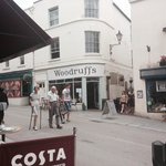 Great setting on a busy street - outdoor seating available
