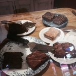 Great cake selection - chic and almond cake, orange and chilli brownie....