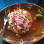Tostada de ceviche - the best!
