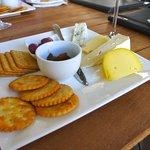 Cheese and biscuits at Rickety Bridge