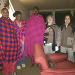 Masai camp staff