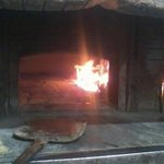 The wood fired pizza oven!