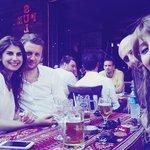 having Efes beer with friends
