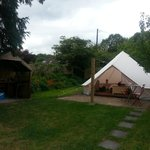 Our tent and BBQ/kitchen area