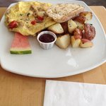 Special- sausage and red pepper frittata with potatoes