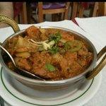 Prato tradicional do paquistao frango buna