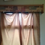 Curtain hanging off