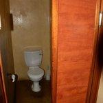 Toilette mit Saloontür