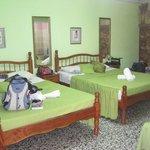 De groene kamer...