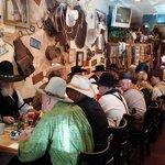 cowboys enjoying breakfast
