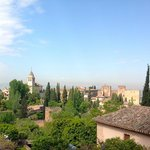 Magnificent view back to the Alhambra & Granada