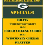 August 9th! SPECIALS!