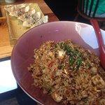 El arroz y las empanadas gioza