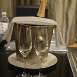 champagne for our anniverary on the house
