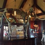 A prehistoric mammoth greets you at the front door of Arnies at Top of the Rock