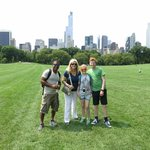 Aaron with my family in Central Park