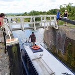 Lock gates open......about halfway up!