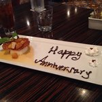 Our 'anniversary' flan - yum!!