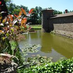 The moats and the stone walls