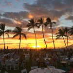 Sunset view before Luau show