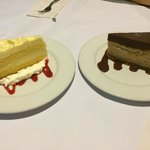 Limoncello marscapone cake and chocolate peanut butter cheesecake