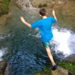 Jumping in the Blue Hole